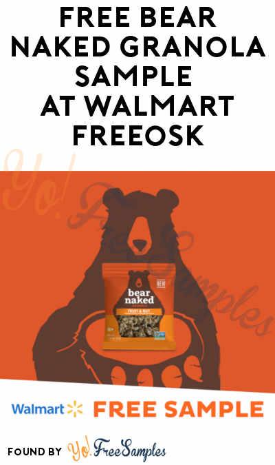 FREE Bear Naked Granola Sample At Walmart Freeosk