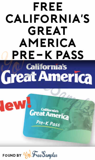FREE California's Great America Pre-K Pass