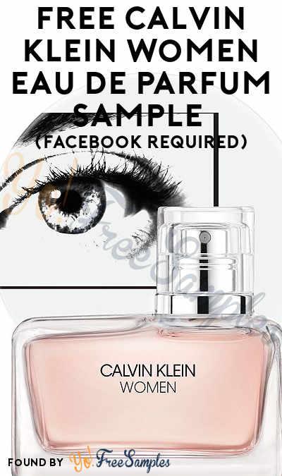 FREE Calvin Klein Women Eau de Parfum Sample (Facebook Required)