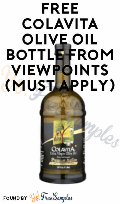 FREE Colavita Olive Oil Bottle, Pasta & Other Food Products From ViewPoints (Must Apply)