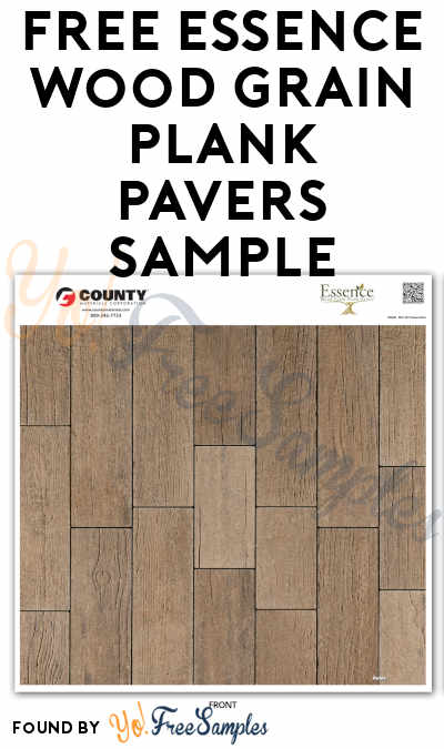 FREE Essence Wood Grain Plank Pavers Sample