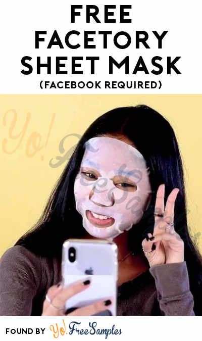 FREE FaceTory Sheet Mask (Facebook Required)