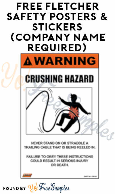FREE Fletcher Safety Posters & Stickers (Company Name Required)