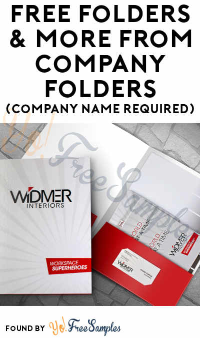 FREE Folders & Other Samples From Company Folders (Company Name Required)