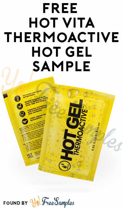 FREE Hot Vita Thermoactive Hot Gel Sample
