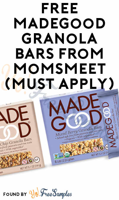 FREE MadeGood Granola Bars From MomsMeet (Must Apply)