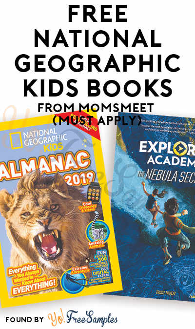 FREE National Geographic Kids Books From MomsMeet (Must Apply)