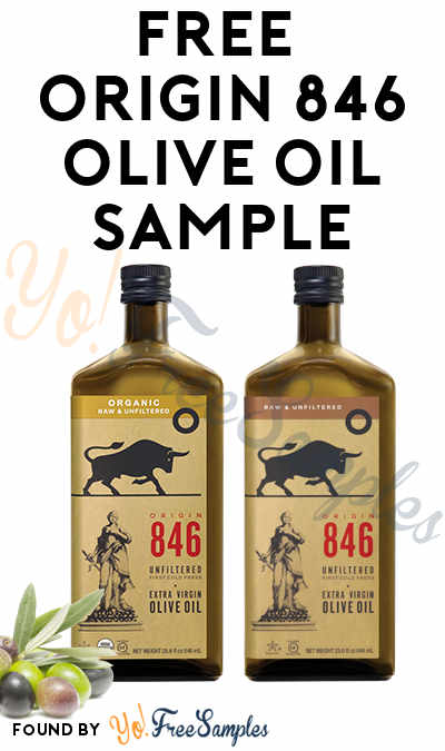 FREE ORIGIN 846 Olive Oil Sample