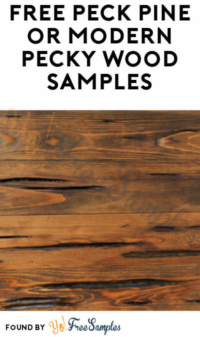 FREE Peck Pine or Modern Pecky Wood Samples
