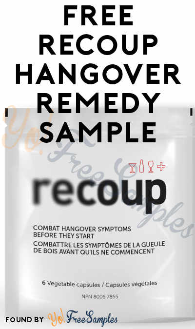FREE Recoup Hangover Remedy Sample