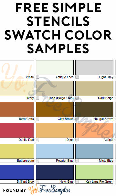 FREE Simple Stencils Swatch Color Samples
