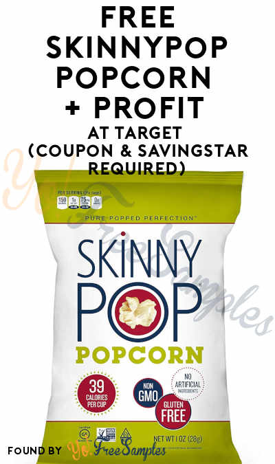 FREE SkinnyPop Popcorn + Profit At Target (Coupon & SavingStar Required)