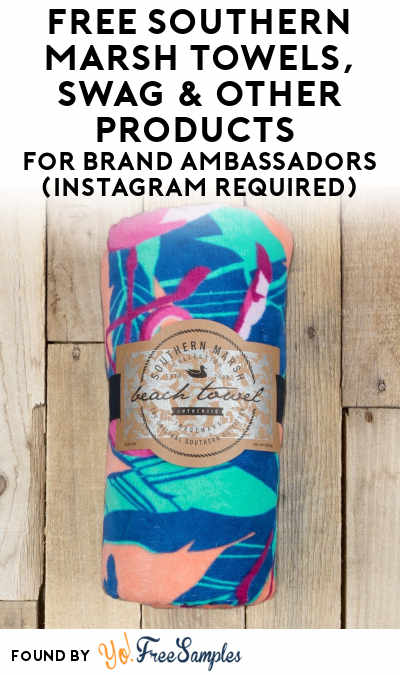 FREE Southern Marsh Towels, Swag & Other Products For Brand Ambassadors (Instagram Required)
