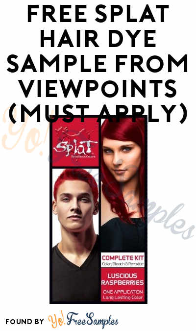 FREE Splat Hair Color Spray Sample From ViewPoints (Must Apply)