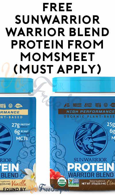 FREE Sunwarrior Warrior Blend Protein From MomsMeet (Must Apply)