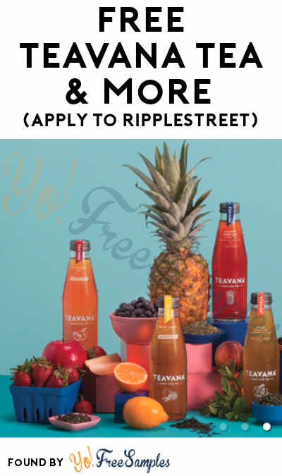 FREE Teavana Tea & More (Apply To RippleStreet)