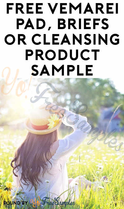 FREE Vemarei Pad, Briefs or Cleansing Product Sample