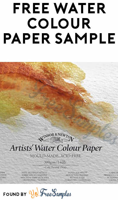 FREE Water Colour Paper Sample From Winsor & Newton