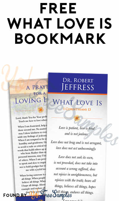 FREE What Love Is Bookmark