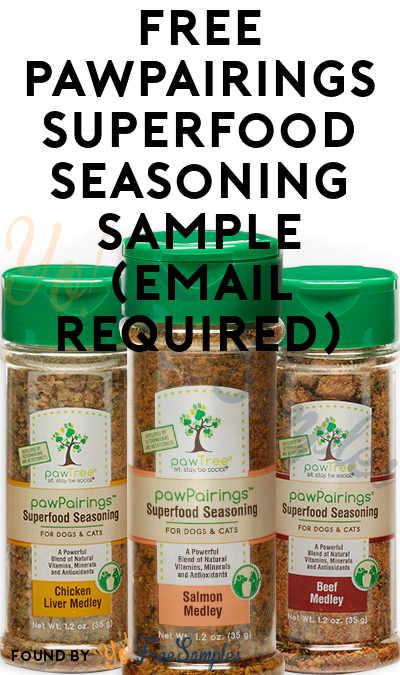 FREE pawPairings Superfood Seasoning Sample (Email Required)
