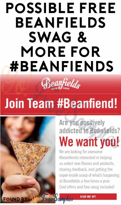 Possible FREE Beanfields Swag & More For #Beanfiends (Must Apply)