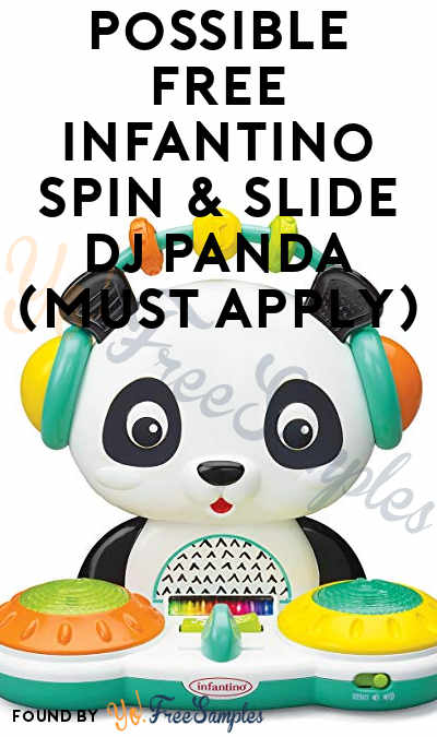 Possible FREE Infantino Spin & Slide DJ Panda (Must Apply)