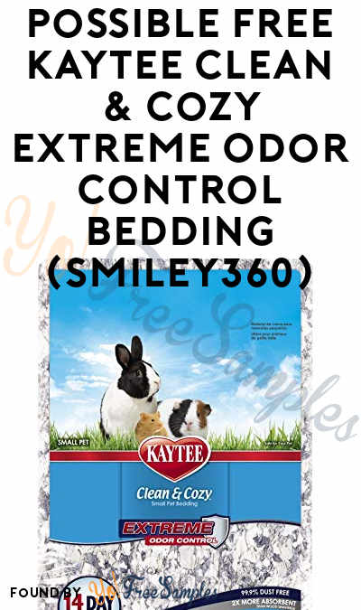 Possible FREE Kaytee Clean & Cozy Extreme Odor Control Bedding (Smiley360)