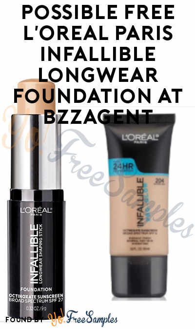 Possible FREE L'Oreal Paris Infallible Longwear Foundation At BzzAgent