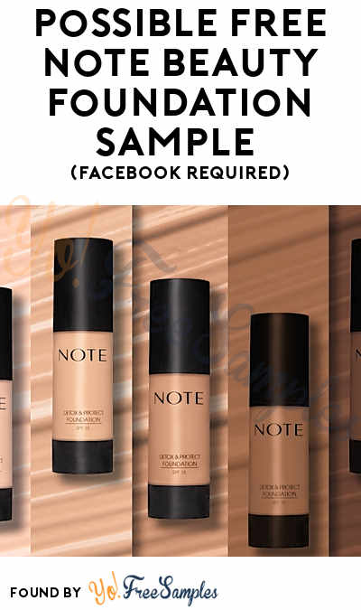 Possible FREE Note Beauty Foundation Sample (Facebook Required)