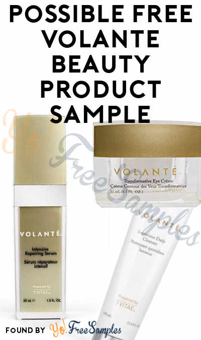 Possible FREE Volante Beauty Product Sample