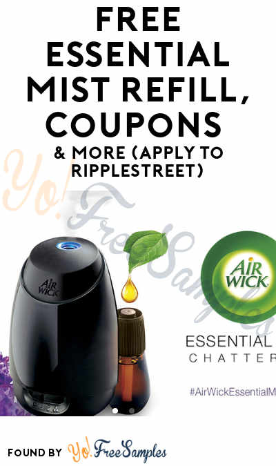 FREE Essential Mist Refill, Coupons & More (Apply To RippleStreet)