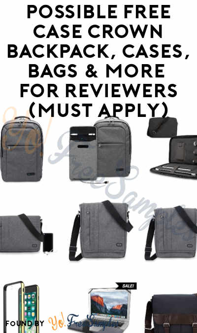 Possible FREE Case Crown Backpack, Cases, Bags & More For Reviewers (Must Apply)