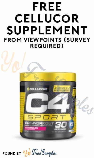 FREE Cellucor Workout Supplement From ViewPoints (Survey Required)