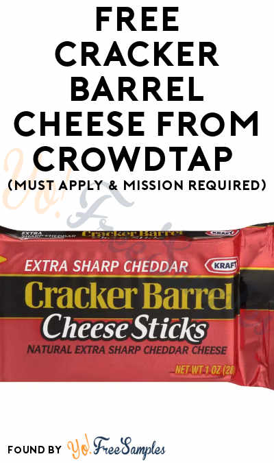 FREE Cracker Barrel Cheese From CrowdTap (Must Apply & Mission Required)