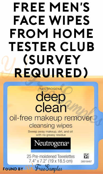 FREE Neutrogena Men's Face Wipes From Home Tester Club (Survey Required)