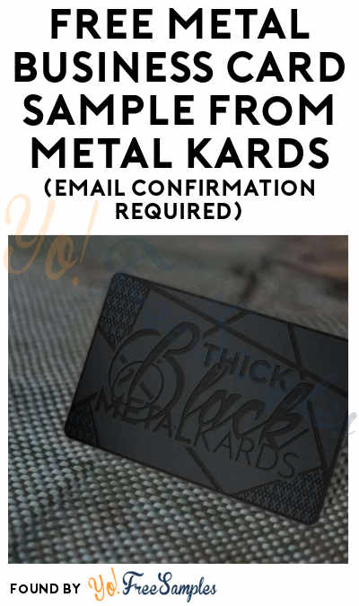 FREE Metal Business Card Sample From Metal Kards (Email Confirmation Required)