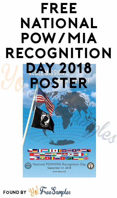 FREE National POW/MIA Recognition Day 2018 Poster