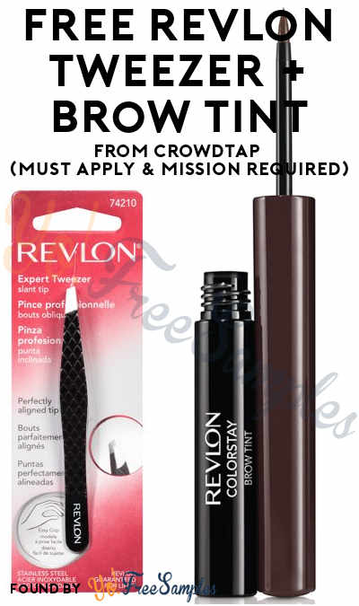 FREE Revlon ColorStay Brow Tint and Revlon Expert Tweezer Slant Tip From CrowdTap (Must Apply & Mission Required)