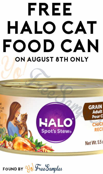 FREE Full-Size Halo Cat Food Can On August 8th Only