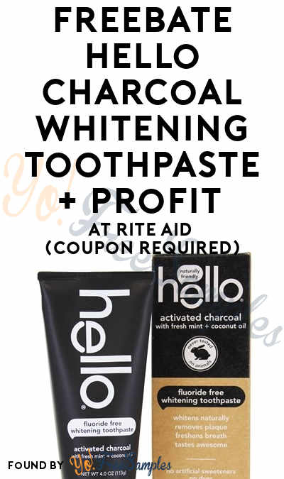 FREEBATE Hello Charcoal Whitening Toothpaste + Profit At Rite Aid (Coupon Required)