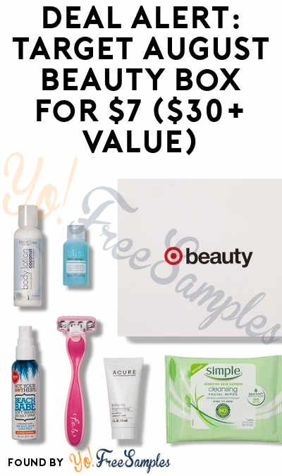 Target Monthly Box: DEAL ALERT: Target August Beauty Box For $7 ($30+ Value