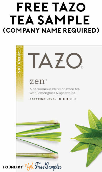FREE Tazo Tea Sample (Company Name Required)