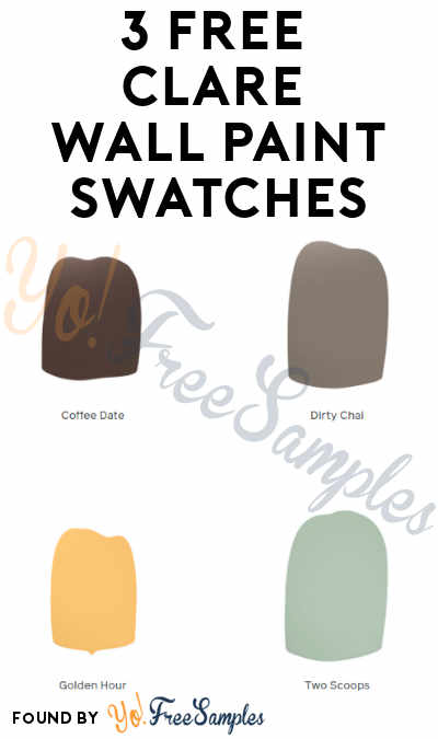 3 FREE Clare Wall Paint Swatches