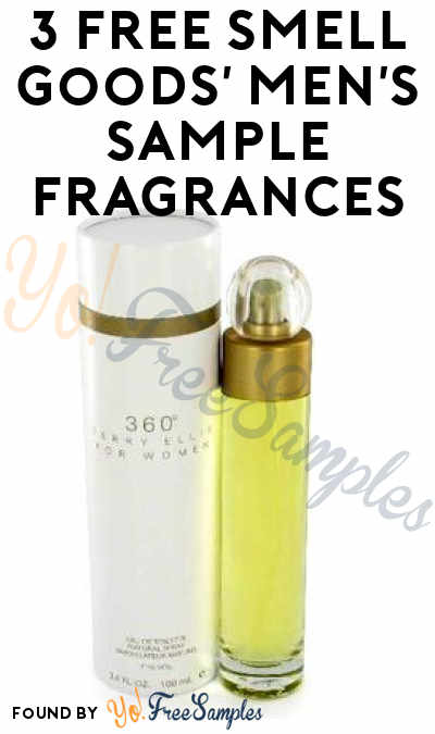 3 FREE Smell Goods' Men's Sample Fragrances