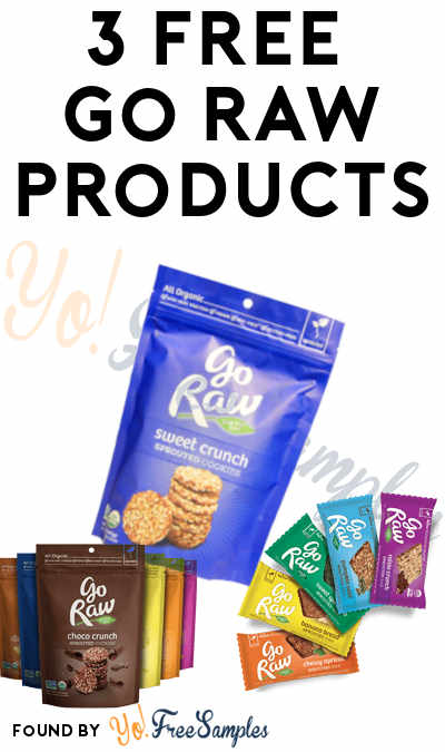 3 FREE Full-Size Go Raw Products Of Your Choice (Survey Required)