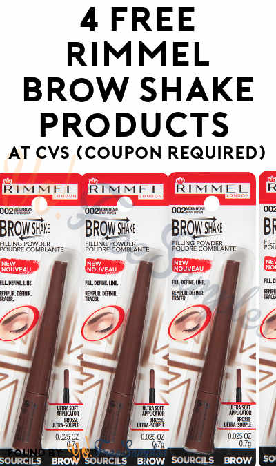4 FREE Rimmel Brow Shake Products + $4 Profit At CVS (Coupon Required) [Verified]
