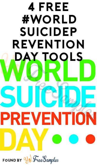 4 FREE #WorldSuicidePreventionDay Tools