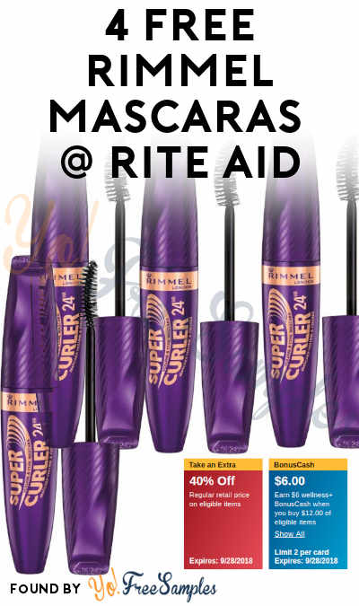 4 FREE Rimmel Mascaras + Over $4 Profit At Rite Aid (Coupon & Wellness+ Card Required)