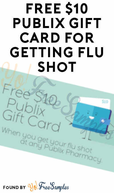 FREE $10 Publix Gift Card For Getting Flu Shot