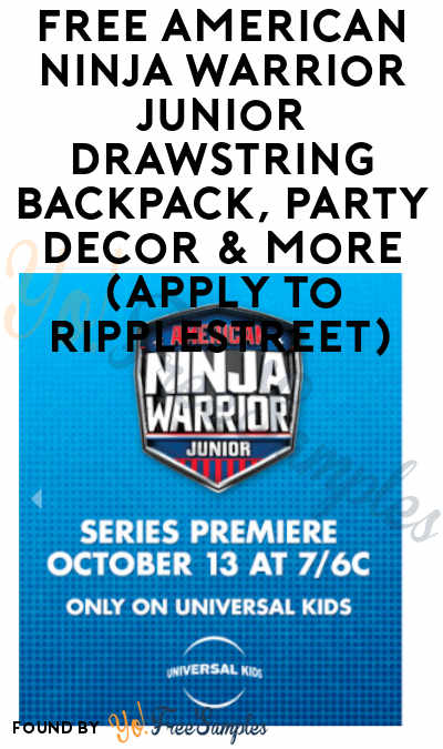 FREE American Ninja Warrior Junior Drawstring Backpack, Party Decor & More (Apply To RippleStreet)
